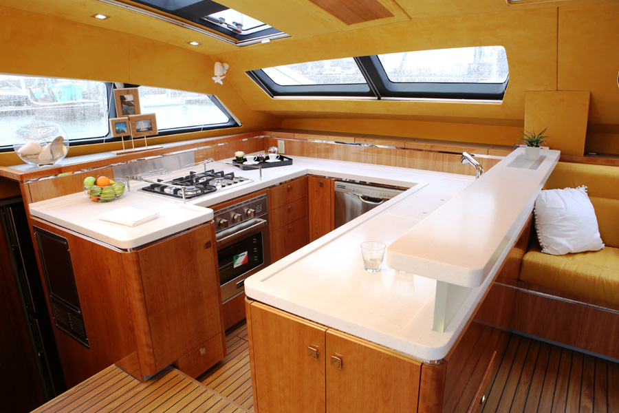 Privilege Serie 5 Catamaran Galley